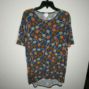 LuLaRoe Short Sleeve Navy Floral Size XXS Shirt